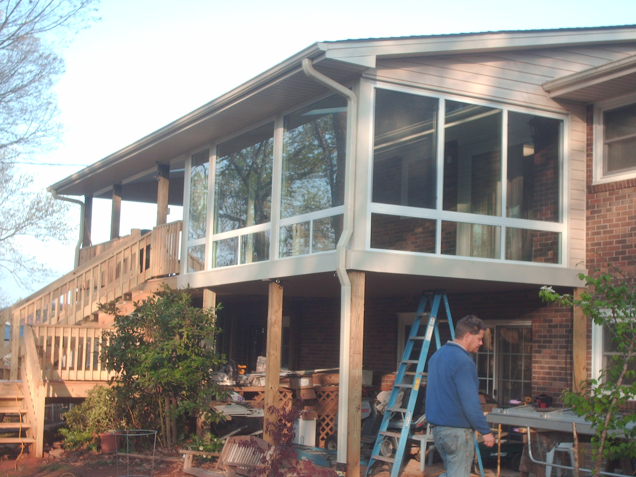 Recent Sunroom And Porch Project J J Homes